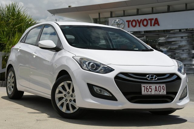 Pre-Owned Hyundai i30 GD2 Active North Lakes, 2014 Hyundai i30 GD2 Active White 6 Speed Sports Automatic Hatchback
