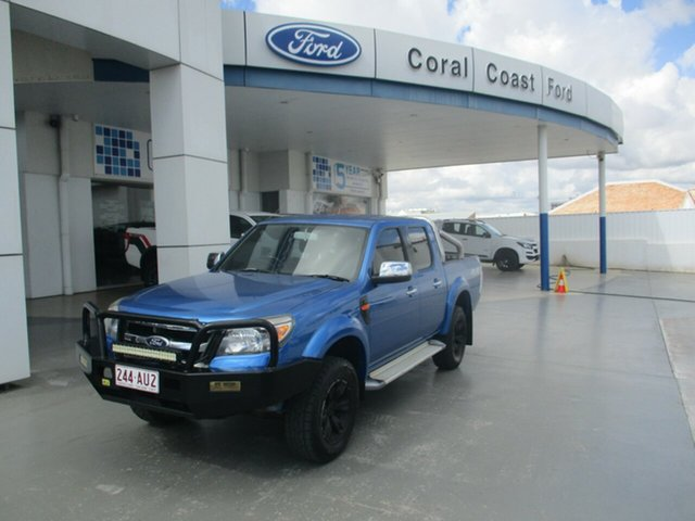 Used Ford Ranger PK XLT (4x4) Bundaberg, 2010 Ford Ranger PK XLT (4x4) Blue 5 Speed Manual Dual Cab Pick-up