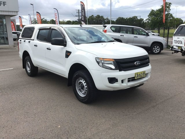 Pre-Owned Ford Ranger PX XL Cardiff, 2014 Ford Ranger PX XL White 6 Speed Sports Automatic Utility