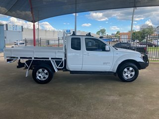 2010 Nissan Navara D40 ST-X (4x4) White 6 Speed Manual King Cab Chassis.