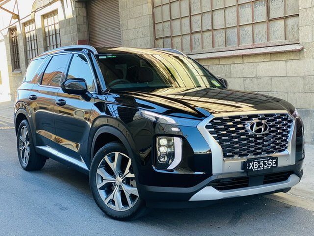 Demo Hyundai Palisade LX2.V1 MY21 Highlander AWD Cheltenham, 2020 Hyundai Palisade LX2.V1 MY21 Highlander AWD Timeless Black 8 Speed Automatic Wagon