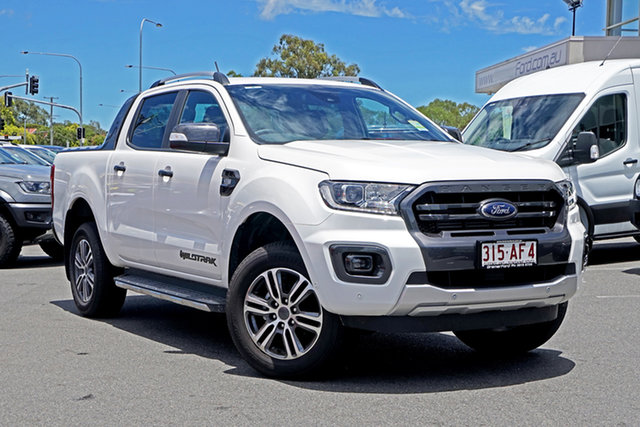 Used Ford Ranger PX MkIII 2020.75MY Wildtrak Ebbw Vale, 2020 Ford Ranger PX MkIII 2020.75MY Wildtrak Alabaster White 6 Speed Sports Automatic