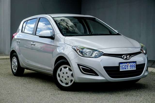 Used Hyundai i20 PB MY12 Active Osborne Park, 2012 Hyundai i20 PB MY12 Active Silver 5 Speed Manual Hatchback
