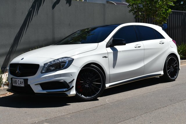 Used Mercedes-Benz A-Class W176 A45 AMG SPEEDSHIFT DCT 4MATIC Brighton, 2013 Mercedes-Benz A-Class W176 A45 AMG SPEEDSHIFT DCT 4MATIC White 7 Speed
