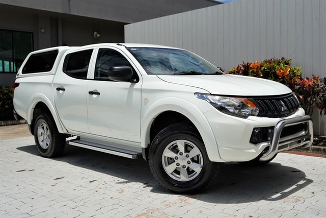 Used Mitsubishi Triton MQ MY17 GLX+ Double Cab Cairns, 2017 Mitsubishi Triton MQ MY17 GLX+ Double Cab White 5 Speed Sports Automatic Utility