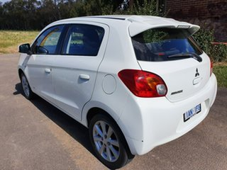 2014 Mitsubishi Mirage LA LS White Constant Variable Hatchback