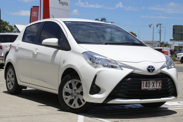 Pre-Owned Toyota Yaris NCP130R Ascent Albion, 2017 Toyota Yaris NCP130R Ascent Glacier White 4 Speed Automatic Hatchback