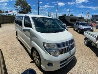 2009 Nissan Elgrand E51 Highway Star White 5 Speed Automatic Wagon.