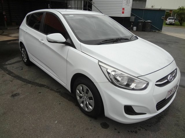 Used Hyundai Accent RB3 MY16 Active Coopers Plains, 2016 Hyundai Accent RB3 MY16 Active White 6 Speed CVT Auto Sequential Hatchback