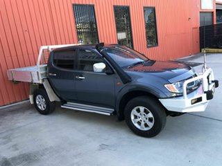 2008 Mitsubishi Triton ML MY08 GLX-R Double Cab Grey 5 Speed Manual Utility