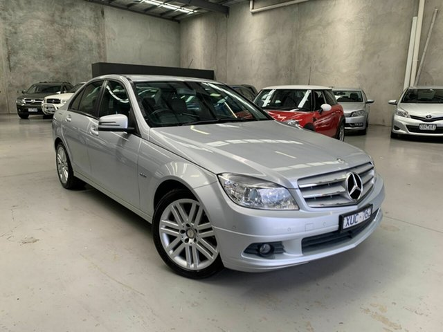 Used Mercedes-Benz C-Class W204 MY10 C200 CGI Classic Coburg North, 2010 Mercedes-Benz C-Class W204 MY10 C200 CGI Classic Silver 5 Speed Sports Automatic Sedan