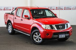 2012 Nissan Navara D40 MY12 ST (4x4) Flame Red 5 Speed Automatic Dual Cab Pick-up.
