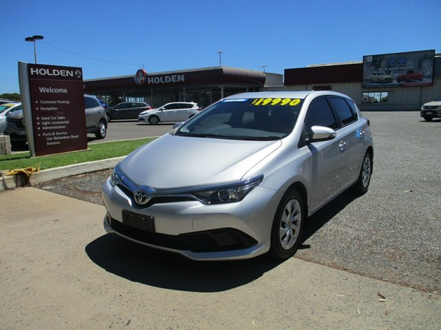 Used Toyota Corolla ZRE182R Ascent S-CVT North Rockhampton, 2015 Toyota Corolla ZRE182R Ascent S-CVT Silver 7 Speed Constant Variable Hatchback