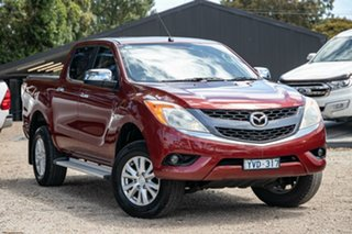 2011 Mazda BT-50 UP0YF1 XTR Red 6 Speed Manual Utility.