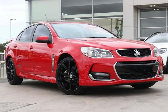 Used Holden Commodore VF II MY16 SS V Liverpool, 2016 Holden Commodore VF II MY16 SS V Red Hot 6 Speed Sports Automatic Sedan