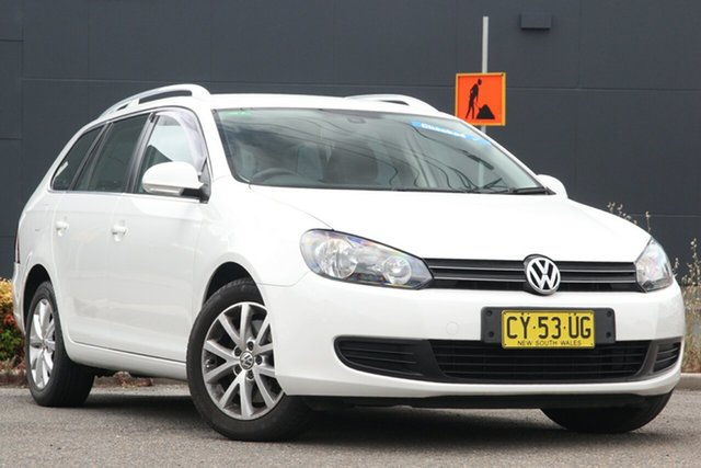 Used Volkswagen Golf VI MY10 118TSI DSG Comfortline Parramatta, 2010 Volkswagen Golf VI MY10 118TSI DSG Comfortline White 7 Speed Sports Automatic Dual Clutch Wagon