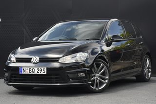2015 Volkswagen Golf VII 103TSI Highline Black 7 Speed Sports Automatic Dual Clutch Hatchback
