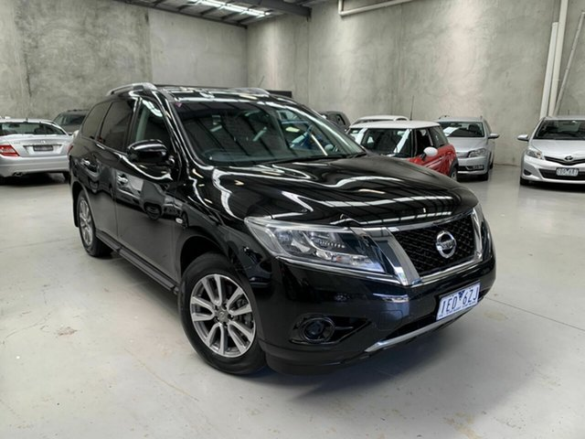 Used Nissan Pathfinder R52 MY15 ST X-tronic 2WD Coburg North, 2015 Nissan Pathfinder R52 MY15 ST X-tronic 2WD Black 1 Speed Constant Variable Wagon