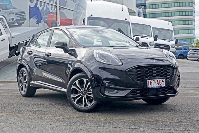 Used Ford Puma JK 2020.75MY ST-Line Springwood, 2020 Ford Puma JK 2020.75MY ST-Line Black 7 Speed Sports Automatic Dual Clutch Wagon