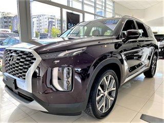 2020 Hyundai Palisade LX2.V1 MY21 Highlander 2WD Sierra Burgundy 8 Speed Sports Automatic Wagon
