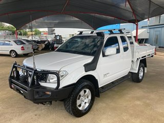 2010 Nissan Navara D40 ST-X (4x4) White 6 Speed Manual King Cab Chassis