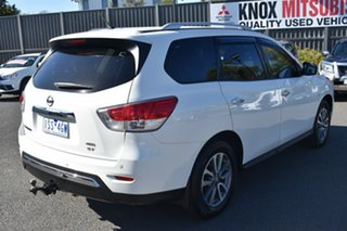 2014 Nissan Pathfinder R52 MY14 ST X-tronic 4WD White 1 Speed Constant Variable Wagon.