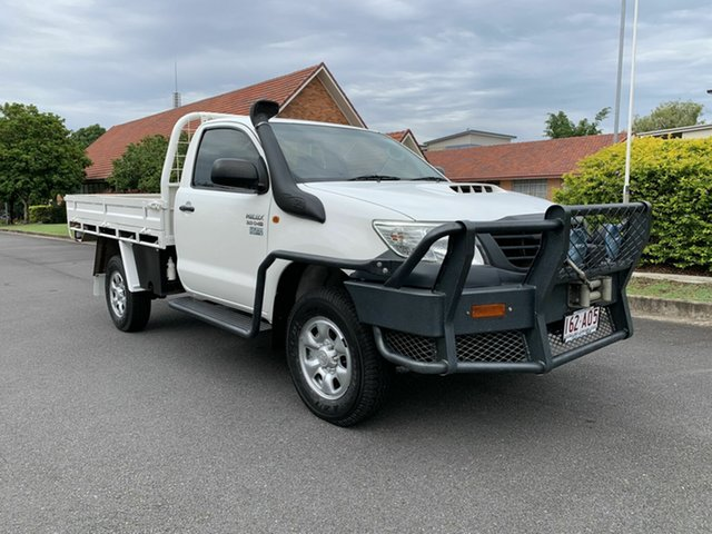 Used Toyota Hilux KUN26R Workmate Chermside, 2011 Toyota Hilux KUN26R Workmate White 5 Speed Manual Single Cab