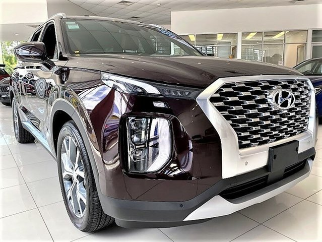 New Hyundai Palisade LX2.V1 MY21 Highlander 2WD Mount Gravatt, 2020 Hyundai Palisade LX2.V1 MY21 Highlander 2WD Sierra Burgundy 8 Speed Sports Automatic Wagon