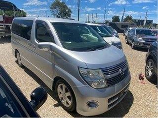 2008 Nissan Elgrand E51 Silver 5 Speed Automatic Wagon.