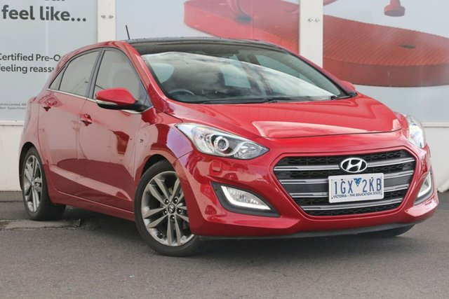Pre-Owned Hyundai i30 GD3 Series II MY16 SR Premium Ferntree Gully, 2015 Hyundai i30 GD3 Series II MY16 SR Premium Red 6 Speed Sports Automatic Hatchback