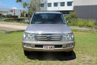 2003 Toyota Landcruiser HDJ100R Sahara Silver 5 Speed Automatic Wagon.