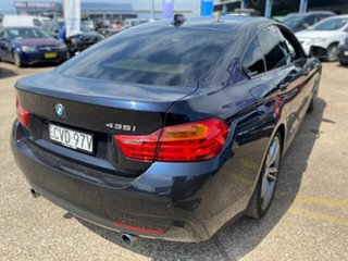 2014 BMW 4 Series F36 435i Gran Coupe Carbon Black Metallic 8 Speed Sports Automatic Hatchback