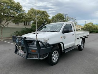 2011 Toyota Hilux KUN26R Workmate White 5 Speed Manual Single Cab