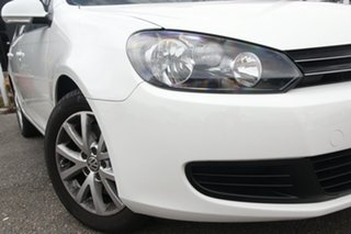 2010 Volkswagen Golf VI MY10 118TSI DSG Comfortline White 7 Speed Sports Automatic Dual Clutch Wagon.