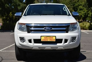 2012 Ford Ranger PX XLT Super Cab 4x2 Hi-Rider White 6 Speed Sports Automatic Utility.