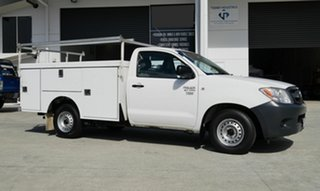 2008 Toyota Hilux TGN16R MY08 Workmate 4x2 White 5 Speed Manual Cab Chassis.