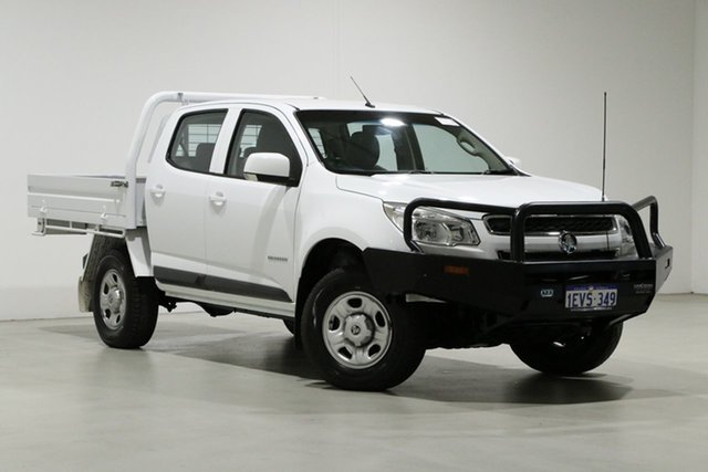 Used Holden Colorado RG MY15 LS (4x2) Bentley, 2015 Holden Colorado RG MY15 LS (4x2) White 6 Speed Automatic Crew Cab Chassis