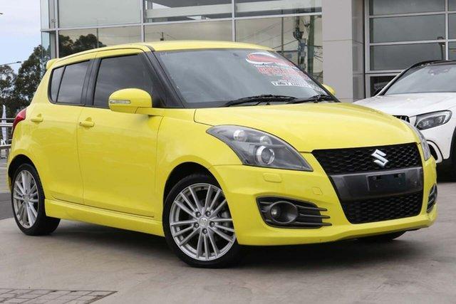 Used Suzuki Swift FZ Sport Liverpool, 2013 Suzuki Swift FZ Sport Yellow 7 Speed Constant Variable Hatchback
