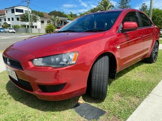 2011 Mitsubishi Lancer CJ MY11 ES Red 5 Speed Manual Sedan.