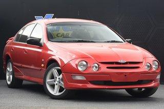 1999 Ford Falcon AU XR6 Red 4 Speed Automatic Sedan.