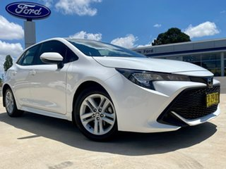 2018 Toyota Corolla Mzea12R Ascent Sport White Constant Variable Hatchback.