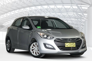 2014 Hyundai i30 GD MY14 Active 1.6 CRDi Silver 6 Speed Automatic Hatchback.