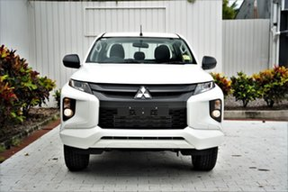 2020 Mitsubishi Triton MR MY20 GLX Double Cab White 6 Speed Manual Utility.