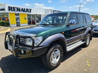 2002 Toyota Landcruiser Prado TX TX FullTime 4WD DR Green 5 Speed Manual Wagon.