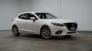 2016 Mazda 3 BM5438 SP25 SKYACTIV-Drive GT White 6 Speed Sports Automatic Hatchback.