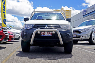2012 Mitsubishi Triton MN MY13 GL 4x2 White 5 Speed Manual Cab Chassis.