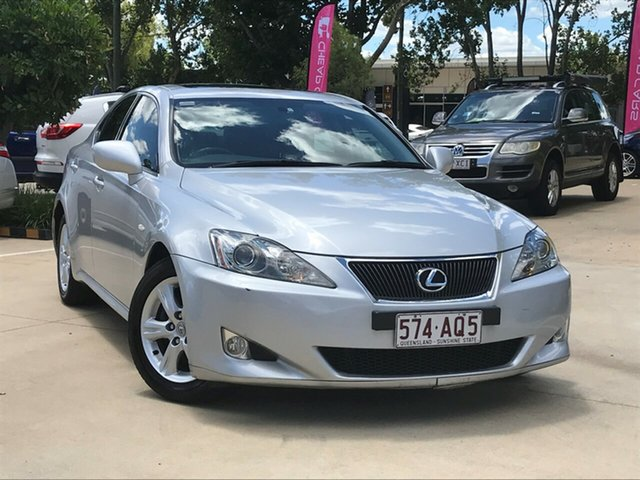 Used Lexus IS GSE20R IS250 Prestige Toowoomba, 2006 Lexus IS GSE20R IS250 Prestige Silver 6 Speed Sports Automatic Sedan