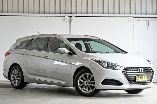 Used Hyundai i40 VF4 Series II Active Tourer D-CT Laverton North, 2017 Hyundai i40 VF4 Series II Active Tourer D-CT Silver 7 Speed Sports Automatic Dual Clutch Wagon