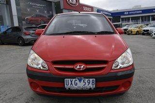 2007 Hyundai Getz TB MY06 Red 5 Speed Manual Hatchback.