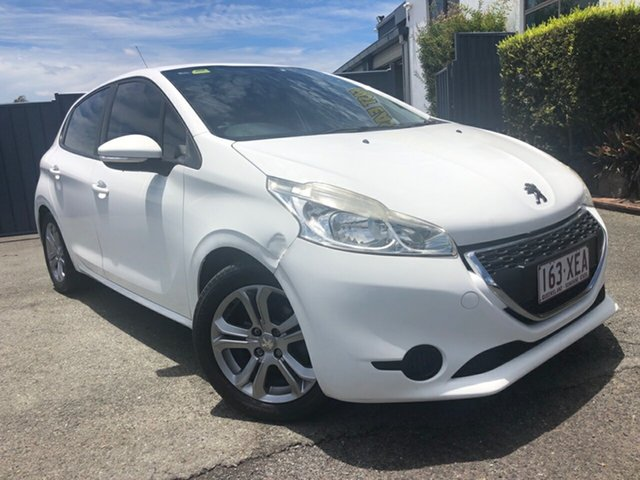 Used Peugeot 208 A9 MY13 Active Slacks Creek, 2014 Peugeot 208 A9 MY13 Active White 4 Speed Automatic Hatchback